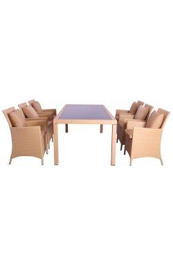 Комплект мебели Samana-6 из ротанга Elit (SC-8849) Sand AM3041 ткань A14203 - 516809