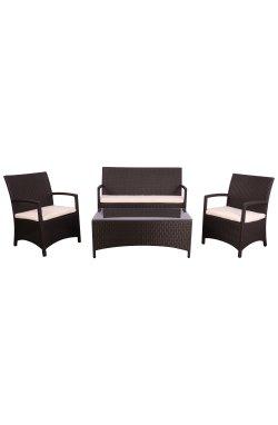 Комплект мебели Bavaro из ротанга Elit (SC-A7428) Brown MB1034 ткань A13815 - 516817