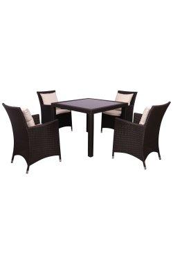 Комплект мебели Samana-4 из ротанга Elit (SC-8849-S2) Brown MB1034 ткань A13815 - 516816