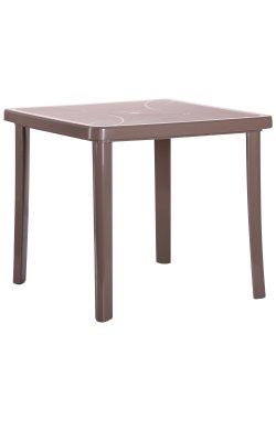 Стол Nettuno 80х80 пластик тауп - 544698