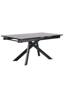 Стол обеденный раскладной Андалусия ET-1601 черный/стекло антрацит - AMF - 521250