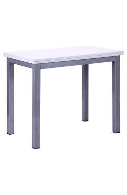 Стол обеденный раскладной Кадис алюм/Меламин белый глянец - AMF - 513636