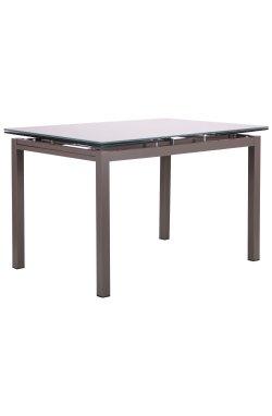 Стол обеденный раскладной Мишель B179-34 серый/стекло платина - AMF - 521256