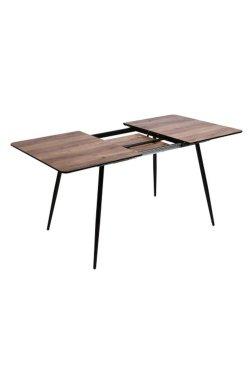 Стол обеденный Orlando раскладной черный/МДФ дуб шервуд - AMF - 545115