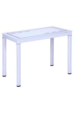 Стол Майорка 1000*600*740 База белый/Стекло белый с узором - AMF - 513639