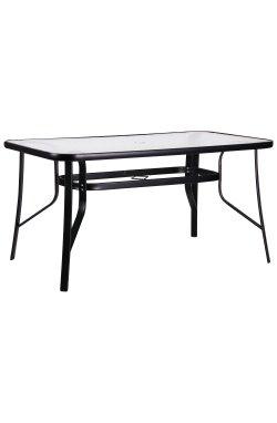 Стол Cancun черный, стекло волна - AMF - 521807