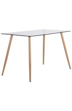 Стол обеденный Умберто DT-1633 бук/стекло прозрачное - AMF - 521259