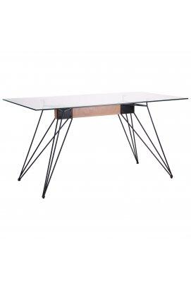Стол обеденный Каттани черный/стекло прозрачное - AMF - 521456