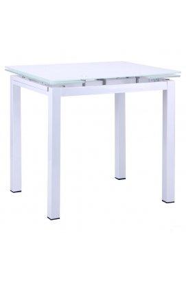 Стол Корфу 800(1250)*650*770 База белый/Стекло белый - AMF - 511319