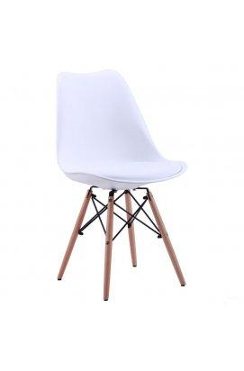 Стул Aster Wood Пластик Белый - AMF - 512034