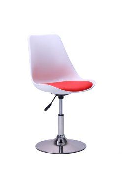Барный стул Aster chrome белый+красный - AMF - 515535