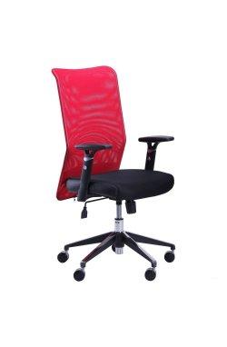 Кресло Аэро Люкс сиденье Сетка черная, Неаполь N-20/спинка Сетка красная - AMF - 024318