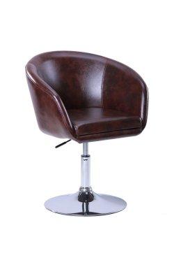 Кресло Дамкар Хром Мадрас дк браун - AMF - 042352
