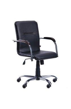 Кресло Самба-RC Хром орех Скаден черный без канта - AMF - 012683