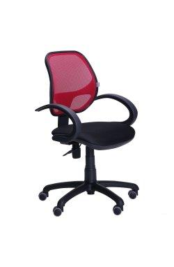 Кресло Байт/АМФ-5 сиденье Сетка черная/спинка Сетка красная - AMF - 116969