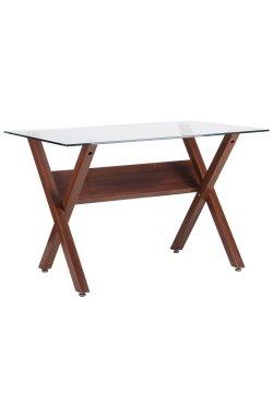 Стол обеденный Maple орех/стекло прозрачное - AMF - 520662