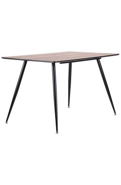Стол обеденный Bronx черный/МДФ дуб шервуд - AMF - 545114
