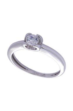 Кольцо dream белое золото из белого золота 585-й пробы с бриллиантом (1506434)