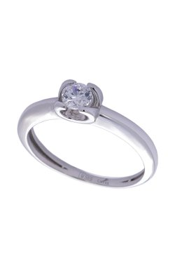 Золотое кольцо dream из белого золота 585-й пробы с куб. циркониями (1 6434)