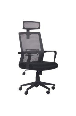 Кресло Neon HR сиденье Саванна Black 19/спинка Сетка серая - AMF - 295388