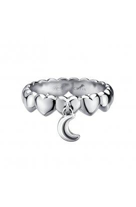 Кольцо с подвеской из серебра из родированного серебра 925-й пробы (11 56 )