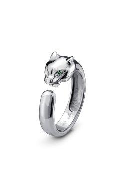Открытое кольцо тигрица серебро из родированного серебра 925-й пробы с альпинитом (12 60 )