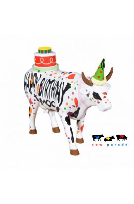 Коллекционная статуэтка корова Happy Birthday - wws-5808