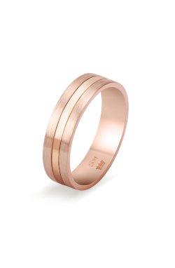 Обручальное кольцо в розовом золоте из красного золота 585-й пробы (111 83)