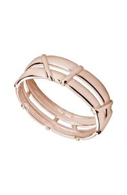 Двойное золотое кольцо илана из красного золота 585-й пробы (1107553)