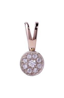 Золотой кулон с бриллиантами малена из белого золота 585-й пробы из красного золота 585-й пробы с бриллиантом (3500613)
