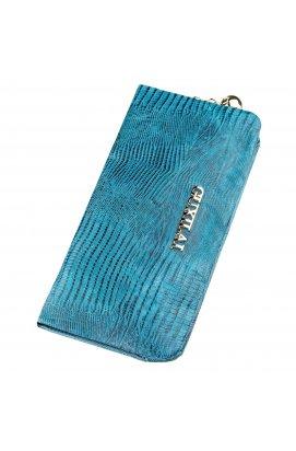 Гаманець жіночий шкіряний з тисненням Guxilai 18966 Синій