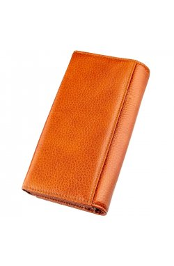 Кошелек горизонтальный женский кожаный BALIYA 18980 Оранжевый Белый
