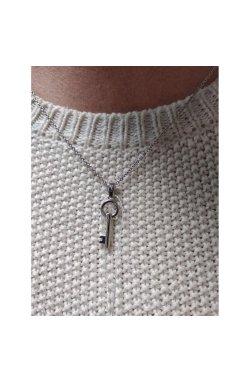 Серебряный кулон ключ от сердца из родированного серебра 925-й пробы (31 63 )