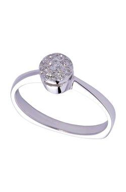 Кольцо с бриллиантами и сапфирами белое золото из белого золота 585-й пробы с бриллиантом (1500614)