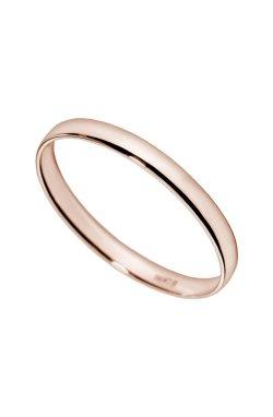 Свадебное кольцо american узкое золото из красного золота 585-й пробы (1103443)