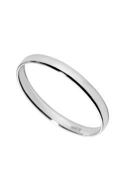 Свадебное кольцо american узкое белое золото из белого золота 585-й пробы (1103444)