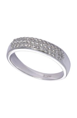 Кольцо с бриллиантами белое золото из белого золота 585-й пробы с бриллиантом (1503434)