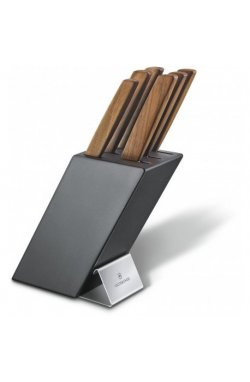Кухонный набор Victorinox Swiss Modern Cutlery Block 6шт с дерев. ручкой с подставкой (6 ножей) Vx67186.6