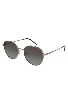Женские солнцезащитные очки INVU B1020C - круглые, Цвет линз - серый