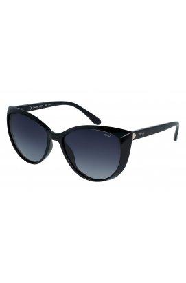 Женские солнцезащитные очки INVU B2028A - бабочки, Цвет линз - серый