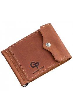 Компактный зажим для денег винтажный GRANDE PELLE 11239