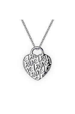 Кулон из серебра love из родированного серебра 925-й пробы (31 00 )