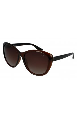 Женские солнцезащитные очки INVU B2013B - бабочки, Цвет линз - коричневый