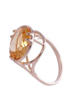 Золотое кольцо королевский стиль .5 из красного золота 585-й пробы с цитрином (1400 301)