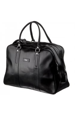 Деловая мужская дорожная сумка гладкая кожа KARYA 17385
