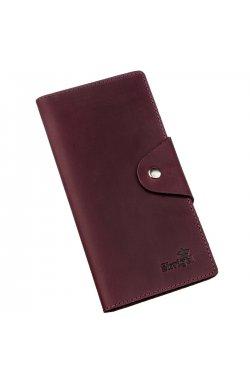 Бумажник женский из винтажной кожи SHVIGEL 16166 Бордовый