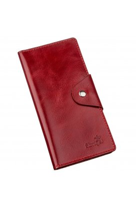 Гаманець жіночий вертикальний зі шкіри Алькор на кнопках SHVIGEL 16172 Червоний Червоний