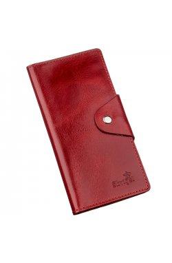 Бумажник женский вертикальный на двух кнопках SHVIGEL 16176 Красный Красный