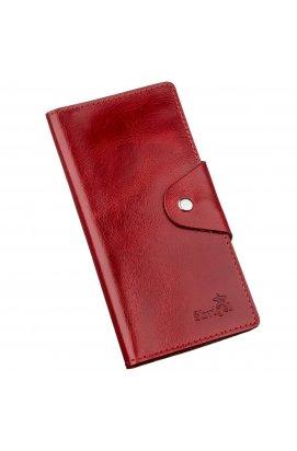 Гаманець жіночий вертикальний на двох кнопках SHVIGEL 16176 Червоний Червоний