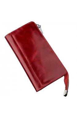 Яркий женский клатч кожаный SHVIGEL 16185 Красный Красный